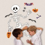 Build a Skeleton Halloween Wall Decal
