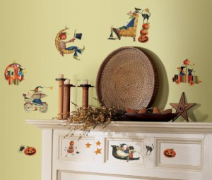 Halloween witch craft wall decal
