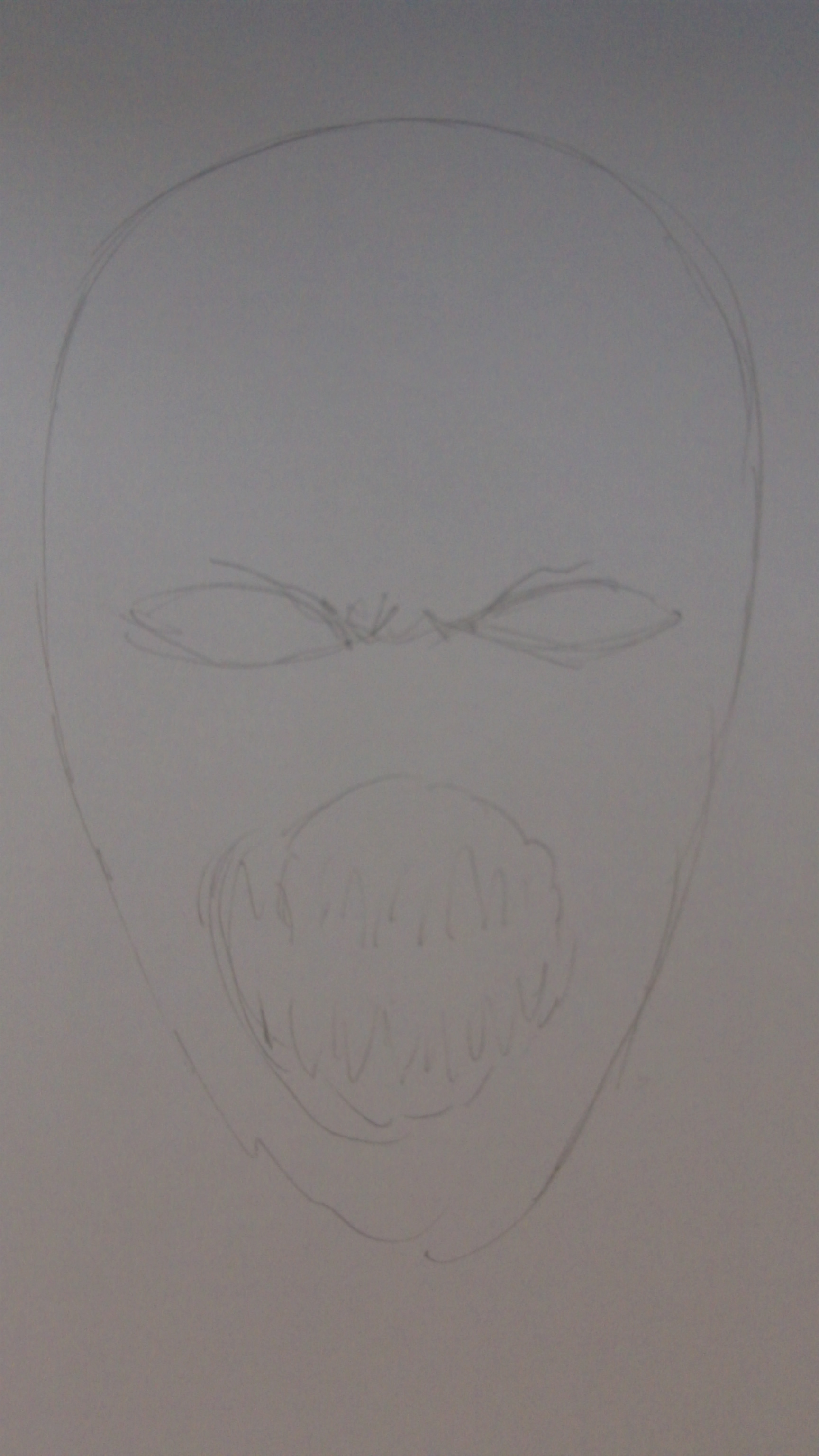 How To Draw A Monster Halloween Mask Idea
