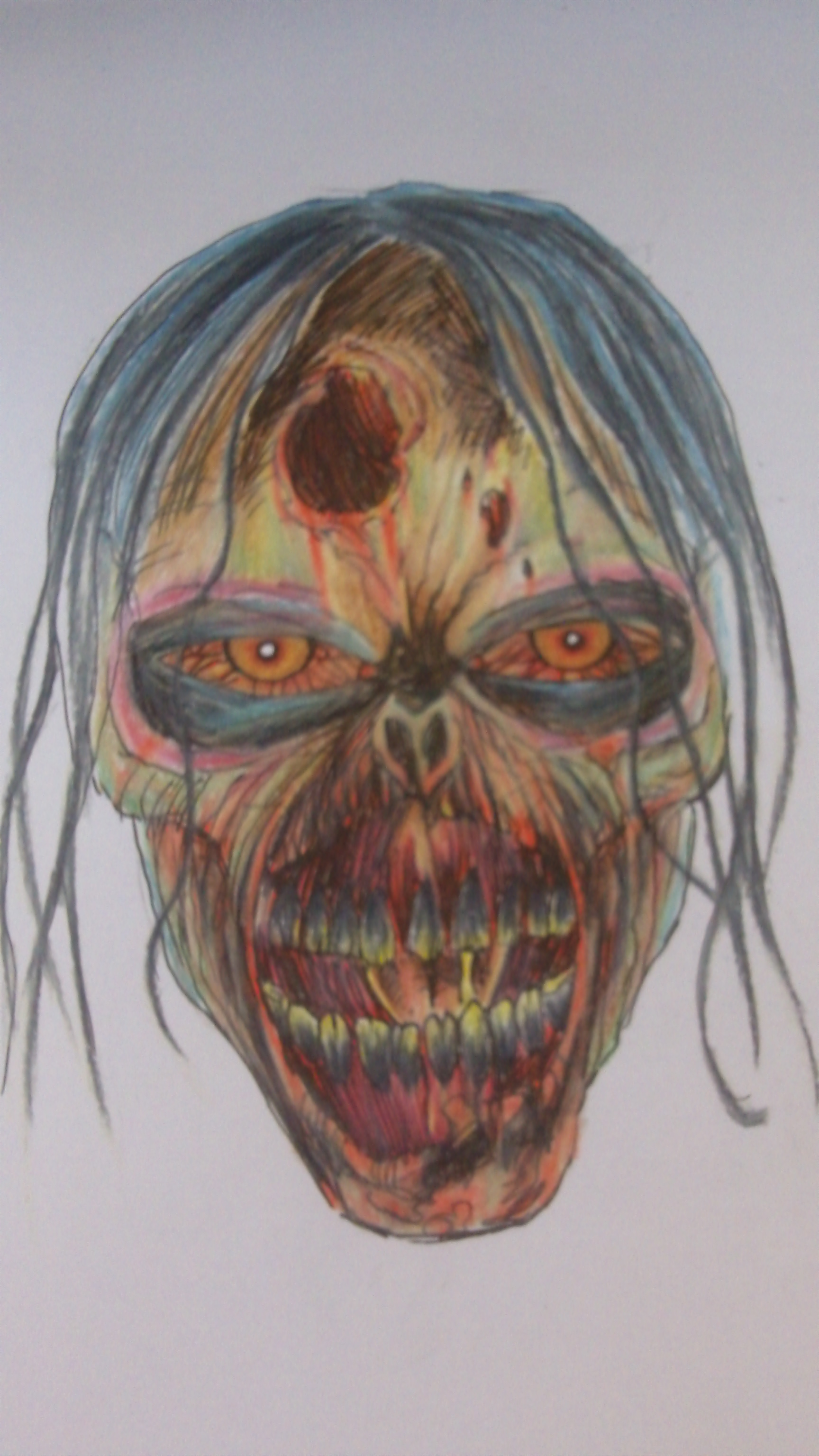 How To Draw A Walking Dead Zombie Head