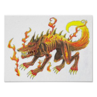 Draw Hellhound For Halloween