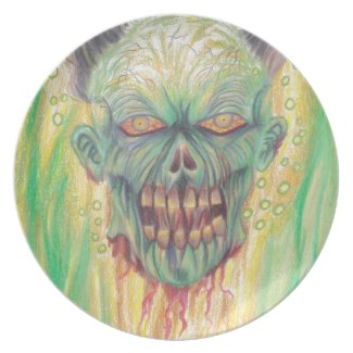Horror Zombie Art Party Plates