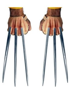 Wolverine costume hands