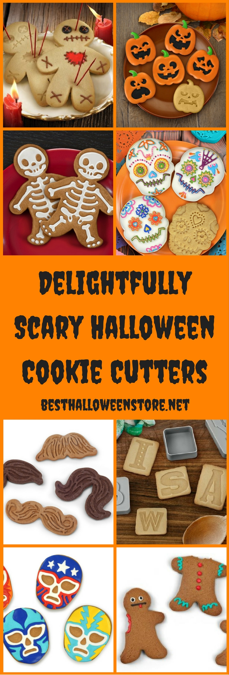 Delightfully Scary Halloween Cookie Cutters