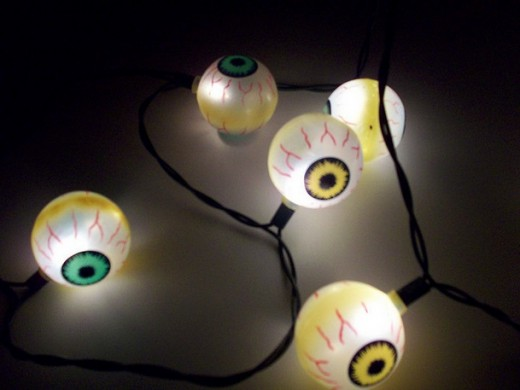 Eyeball Lights for Halloween