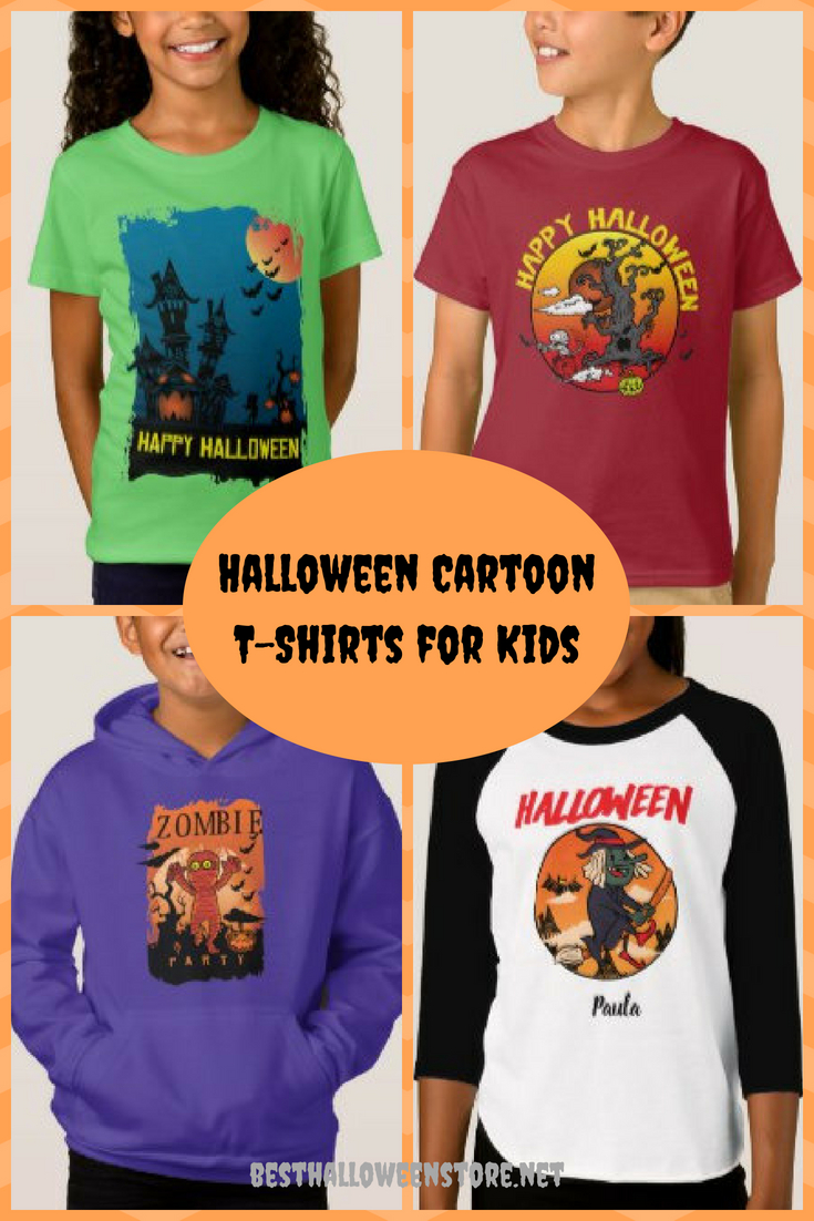 Halloween Cartoon T-Shirts for Kids
