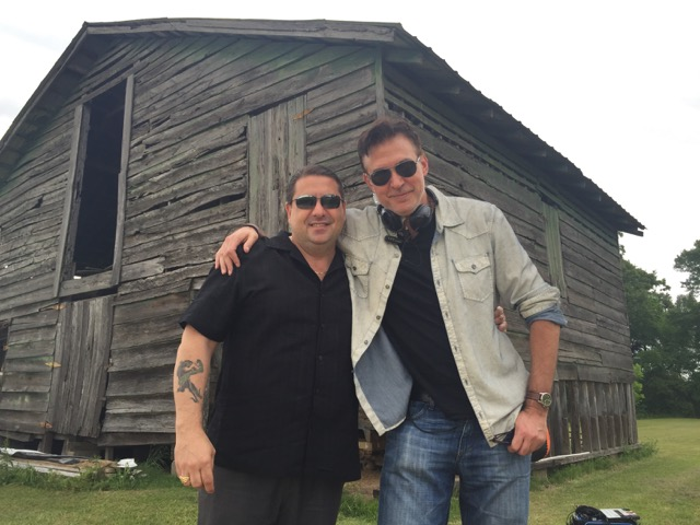 Dead Files host Steve DiSchiavi and showrunner, Rob Rosen, on set in Sicily Island, LA
