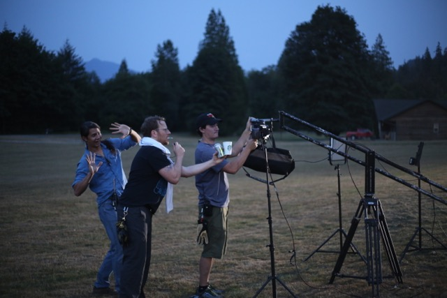 DP Rob Toth, Camera op Alex Weisman and AC, Adam Eurich on location in Concrete, WA