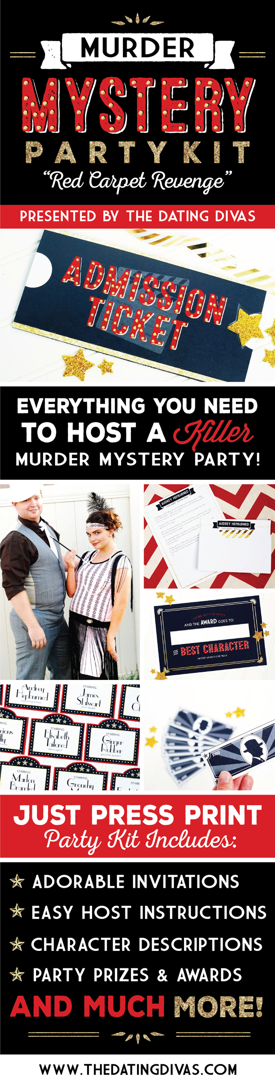 Murder Mystery Party Pack