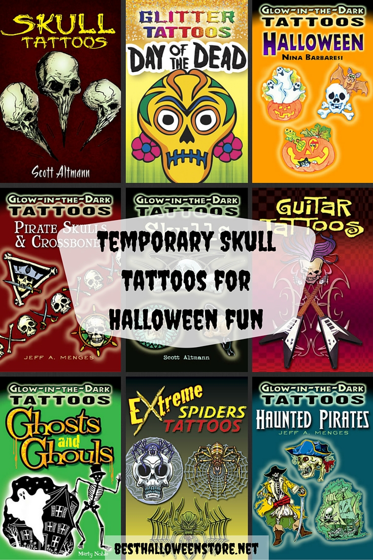 Temporary Skull Tattoos for Halloween Fun