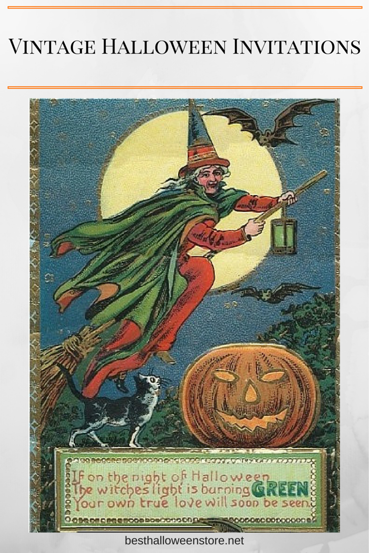 Vintage Halloween Invitations