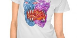 Two Faced Demon Art T-Shirts For Halloween