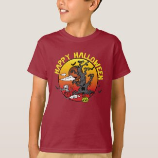 Personalize these Halloween Cartoon T-Shirts for Kids and Adults