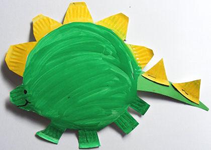 Paper Plate Stegosaurus