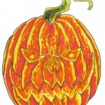 Wayne Tully Scary Pumpkin Drawing