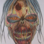 draw walking dead head