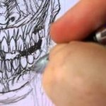 how to draw horror face